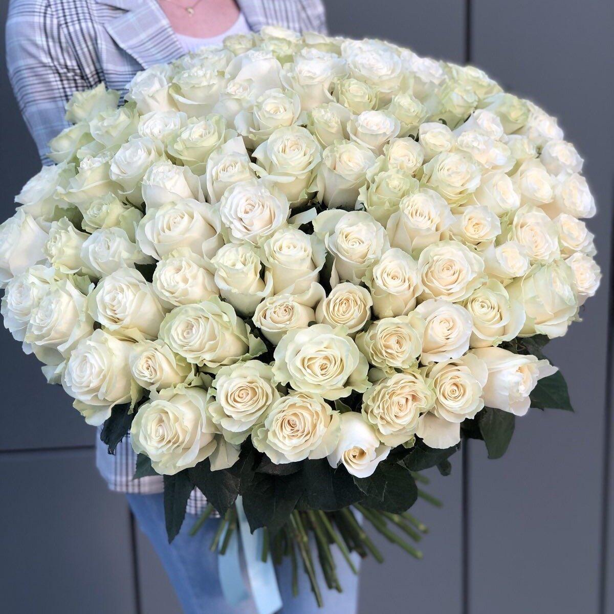 Букет из белых роз Вечная классика