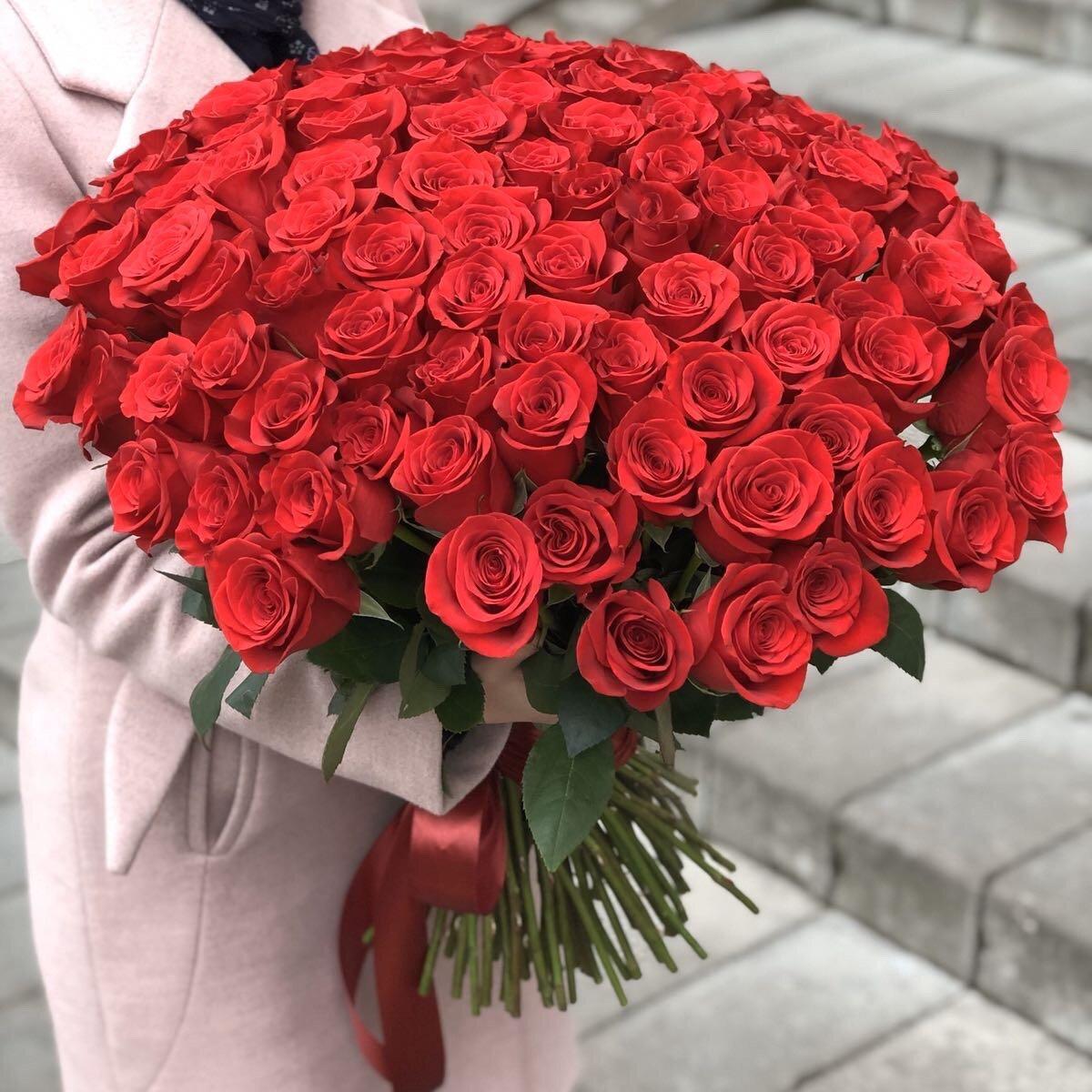 Букет из 101 красной розы Классика