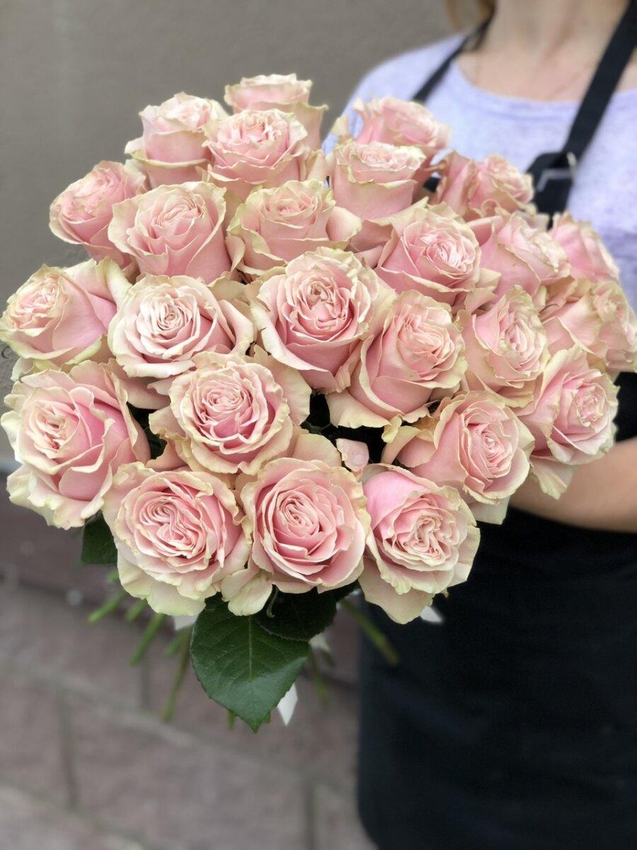 Роза розовая 70 см