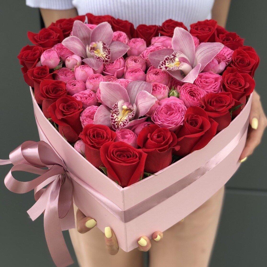 Сердце из роз № 5
