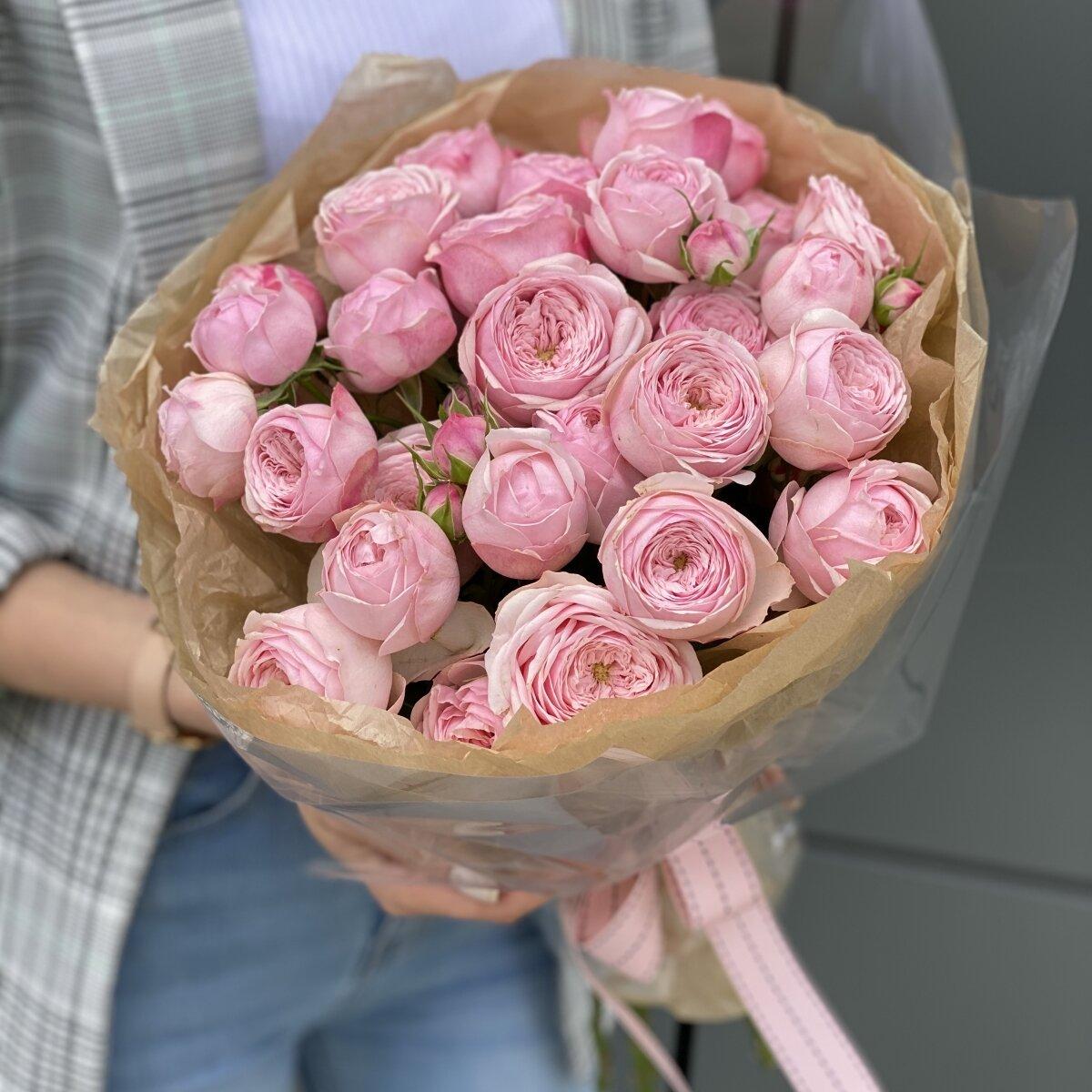 Букет из кустовых пионовидных роз Принцесса