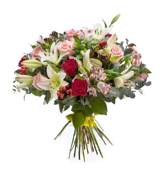 Букет с лилией и розой Илюза