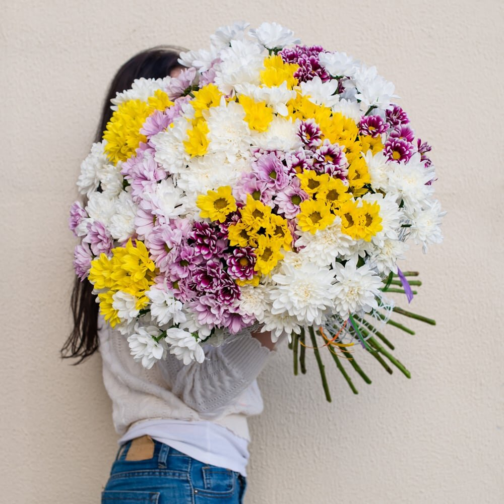 Букет из хризантемы Воздушный
