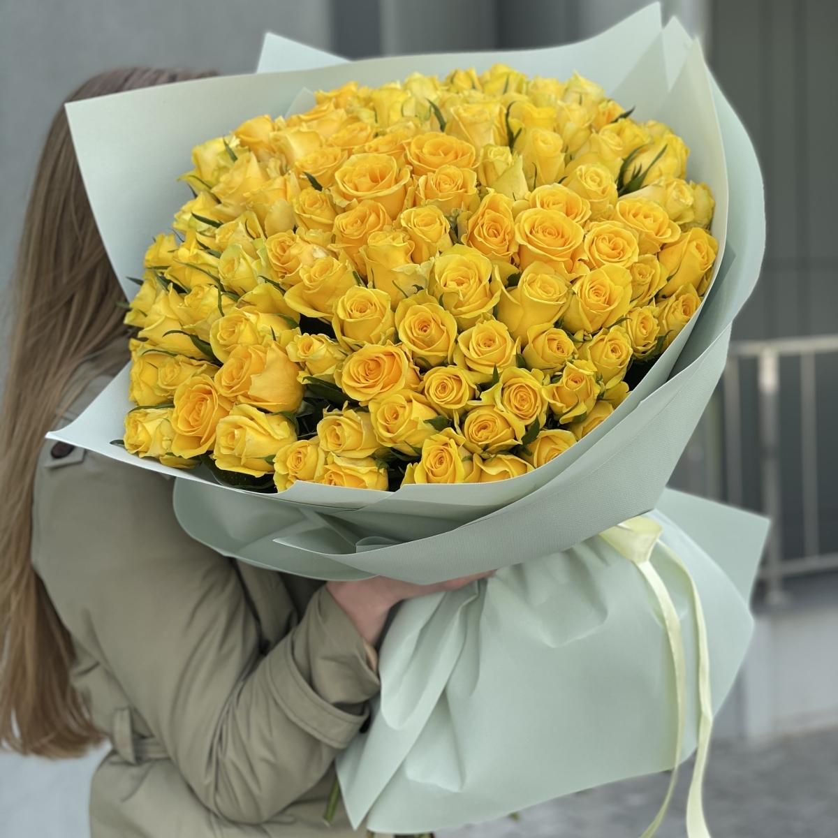 Букет 101 жёлтая роза