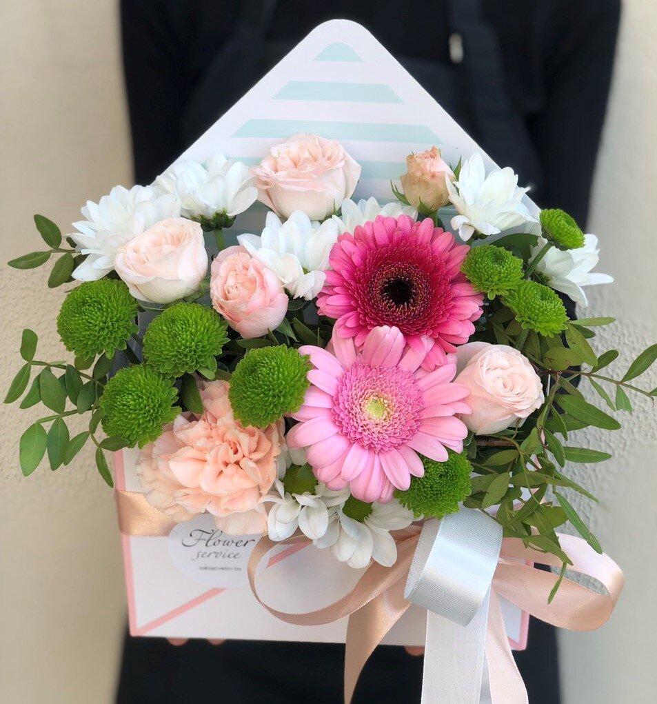 Конверт с цветами Сандра