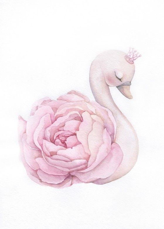 Открытка Лебедь