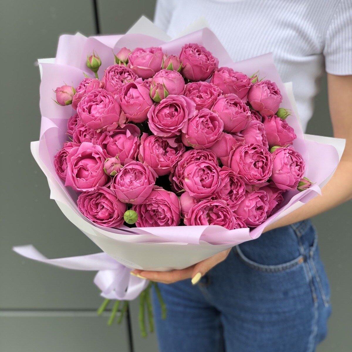 Букет Розовые сладости из пионовидных роз