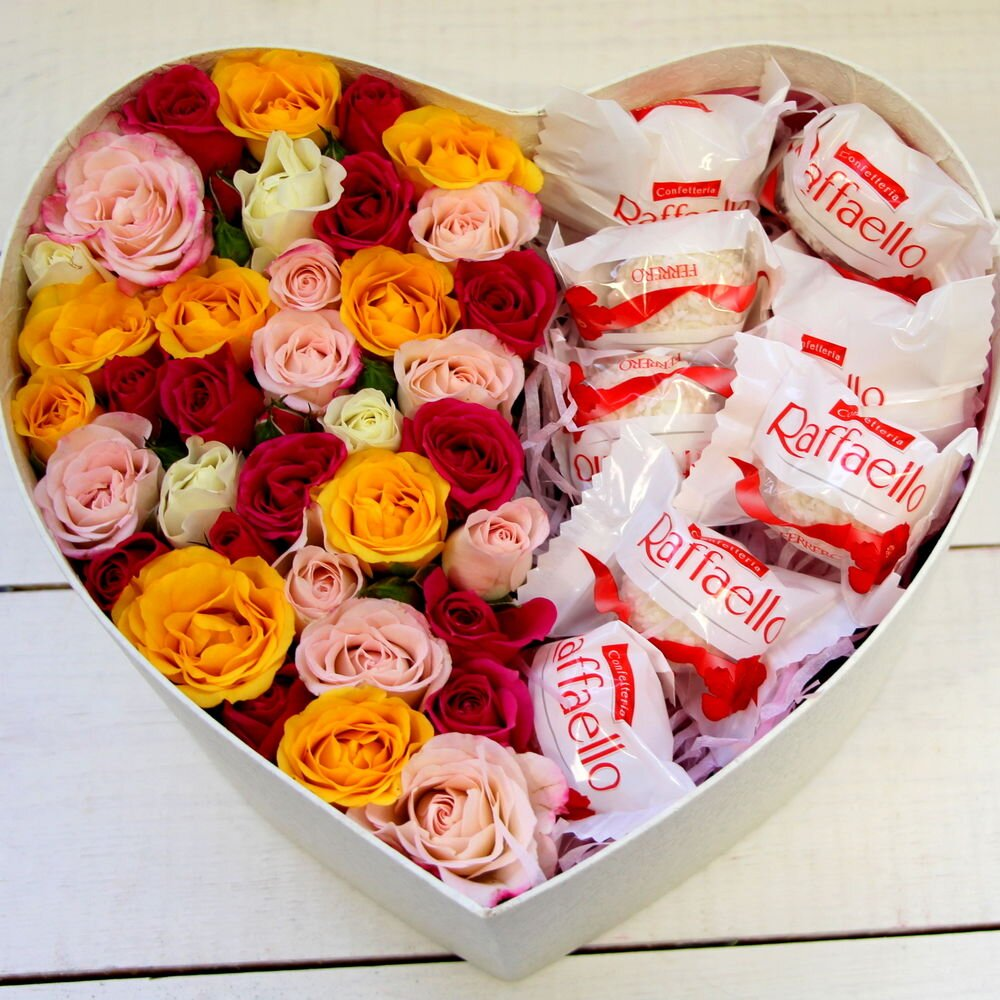 Сердце из роз и Рафаэлло № 3