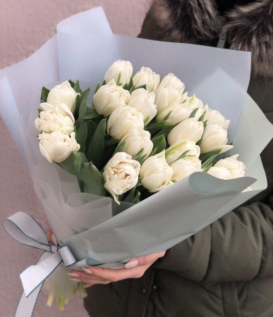 Букет из пионовидных тюльпанов Апрель