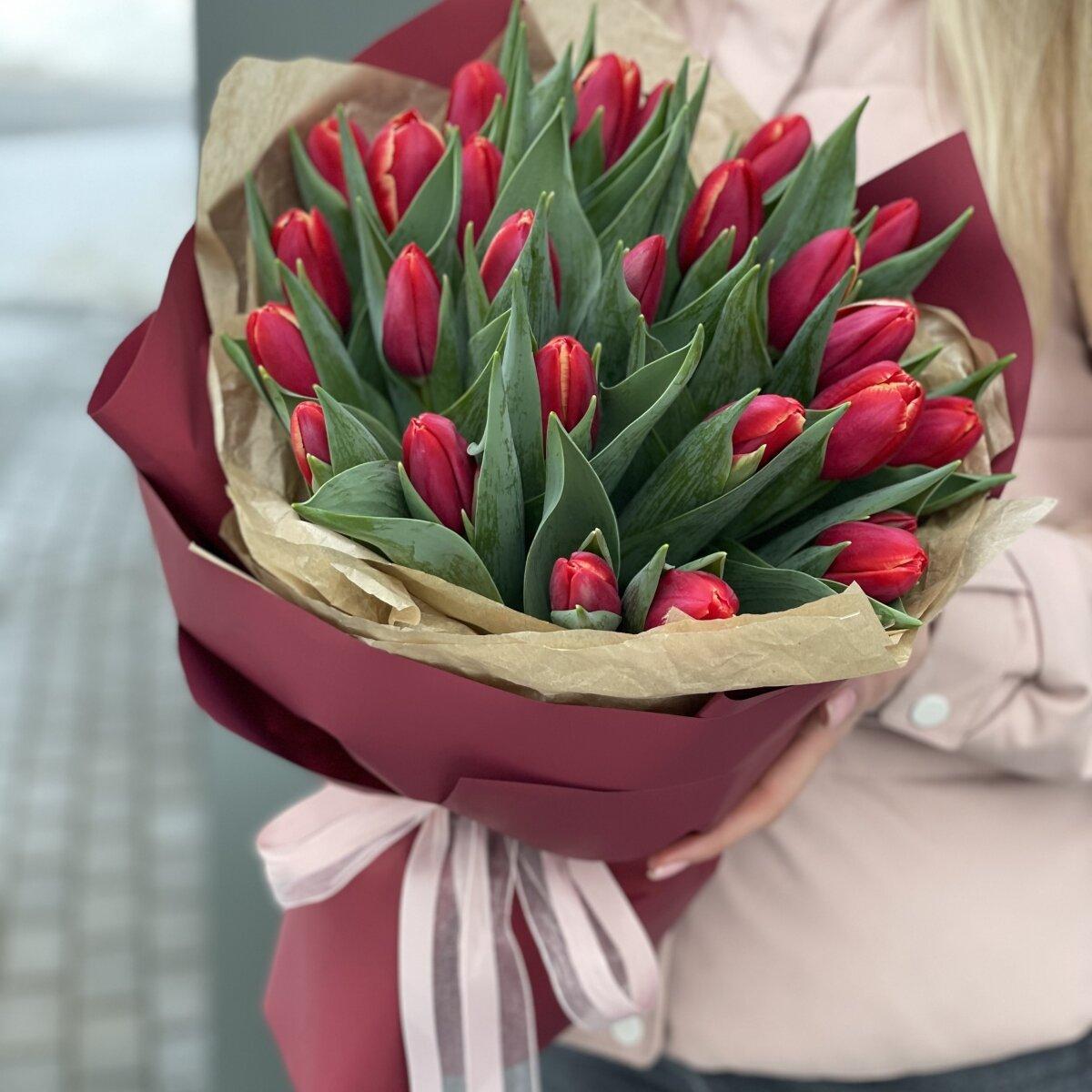 Букет Мэри из тюльпанов