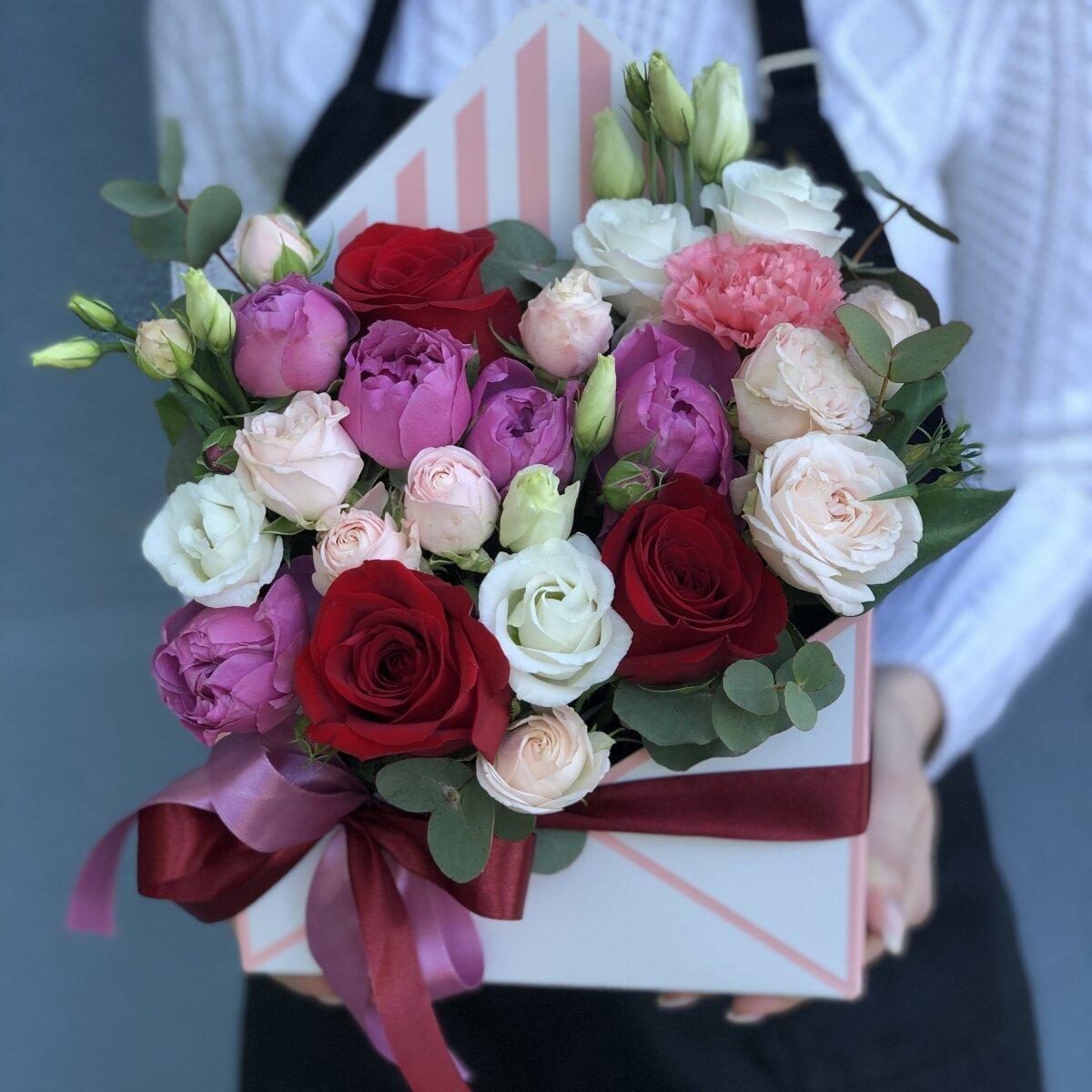 Конверт с цветами Черри