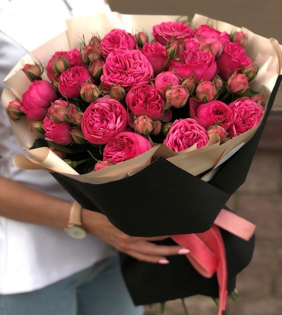 Букет с пионовидными розами Пинк Пиано