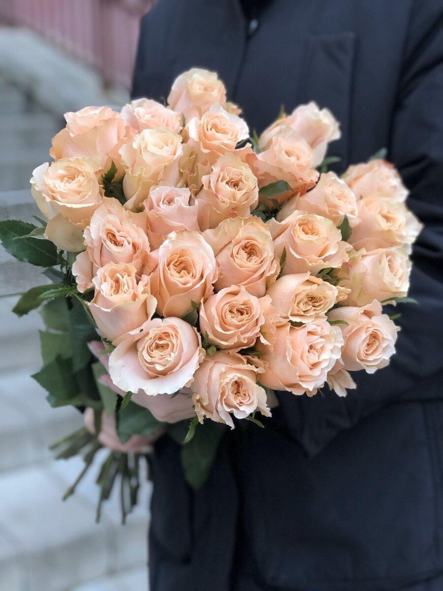 Роза персиковая 60 см