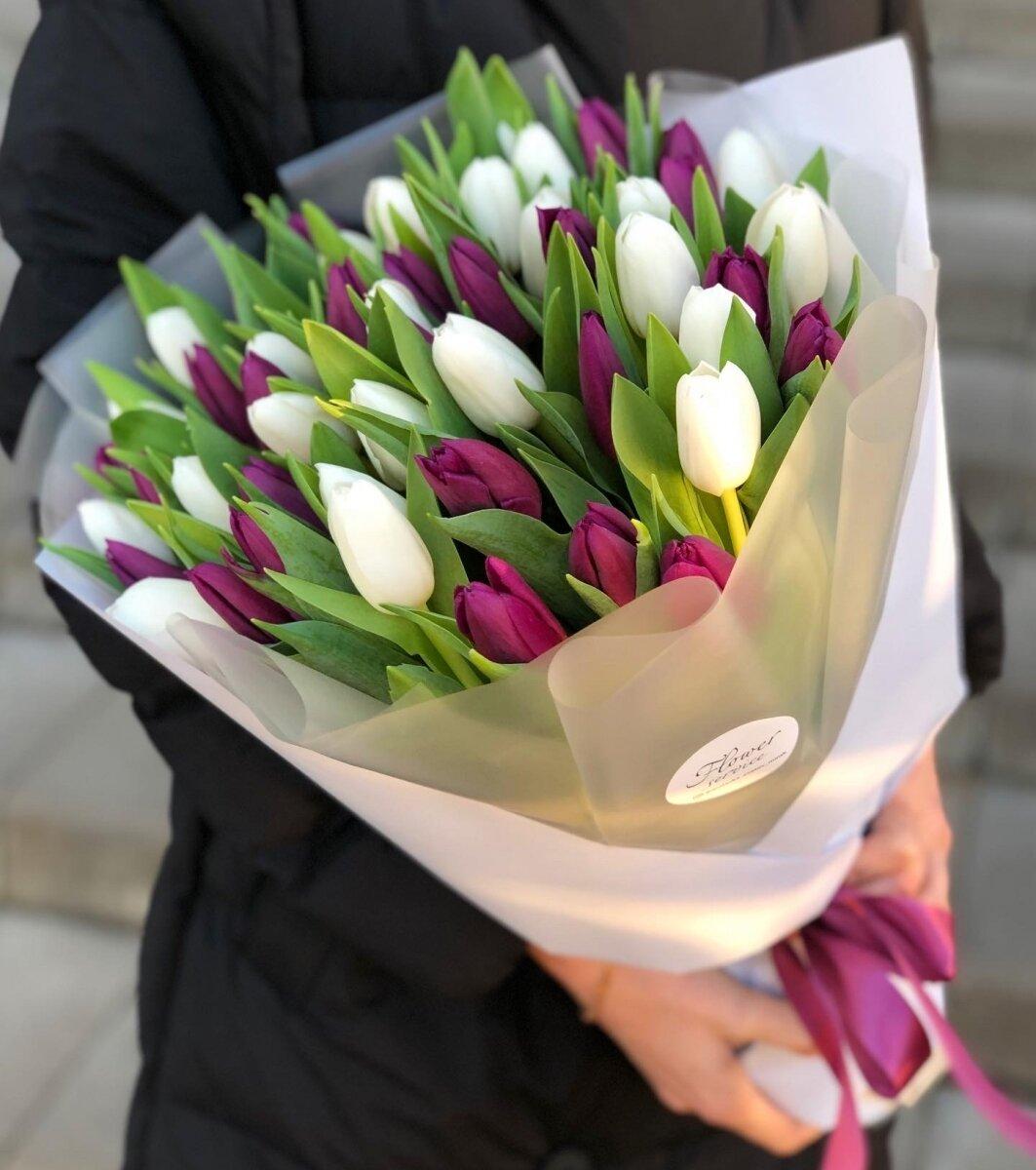 Букет из тюльпан Идеальное сочетание