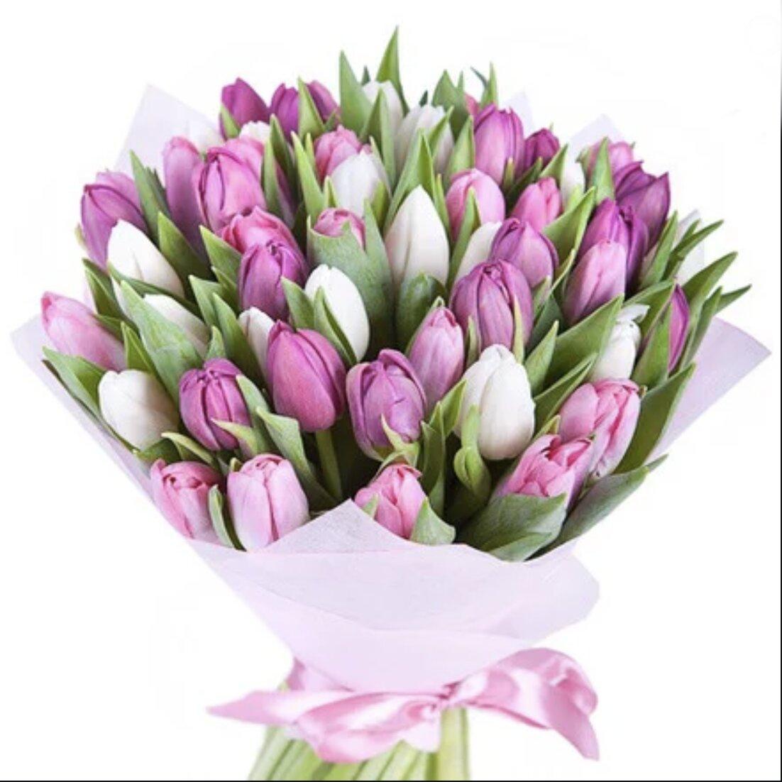 Букет из тюльпанов Ты и я