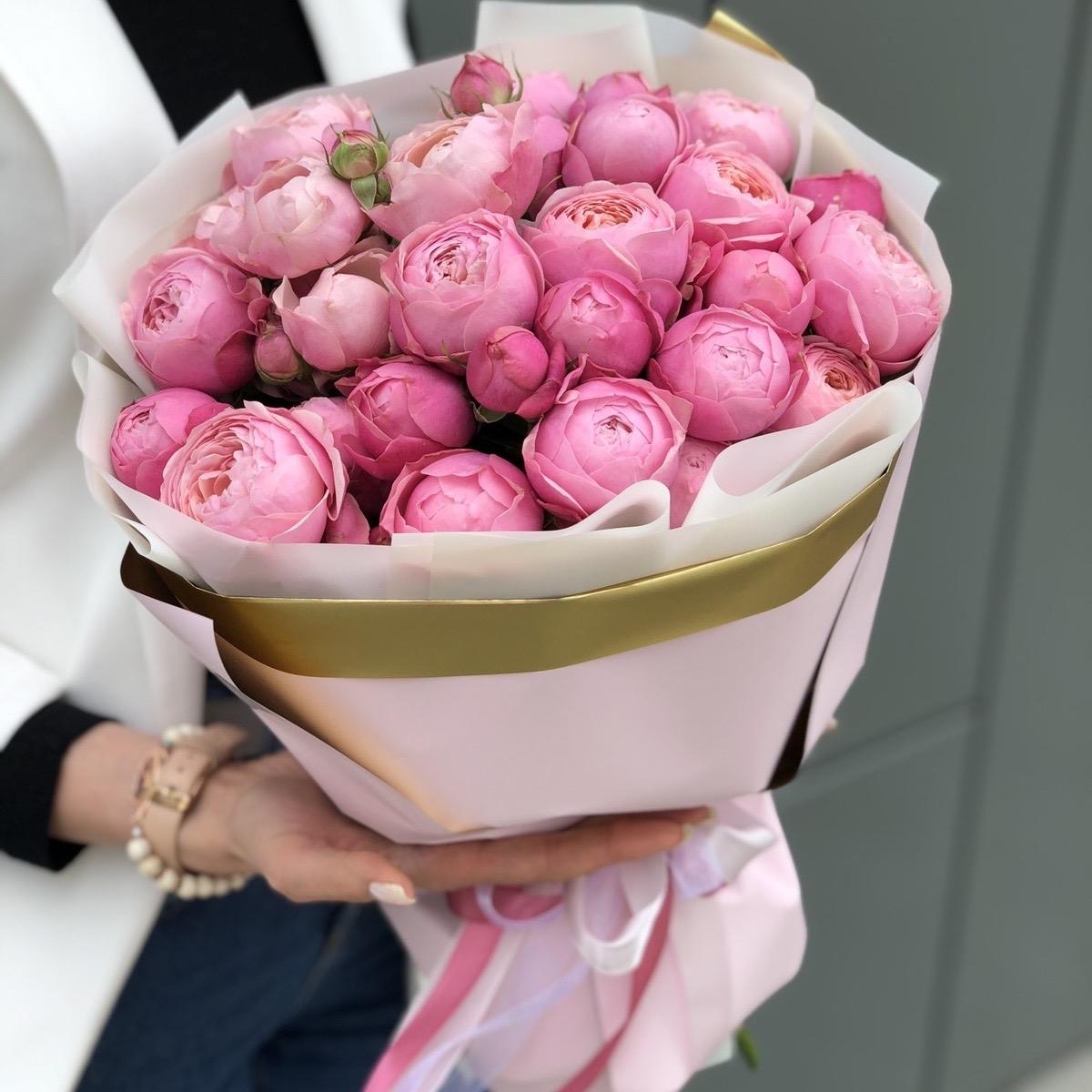 Букет из пионовидной розы Эвиан