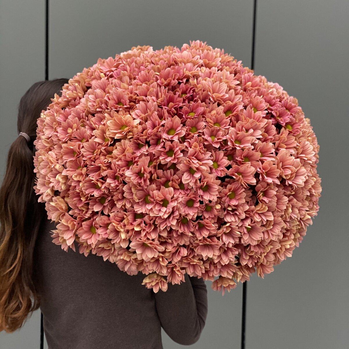 Букет из ромашковой хризантемы Персиковый джем