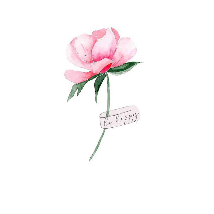 Открытка Розовый пион