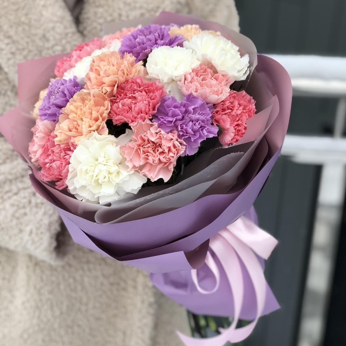 Букет Палитра цветов из диантуса