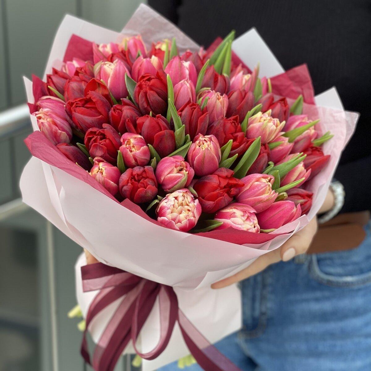 Букет Коррида из 51 пионовидного тюльпана
