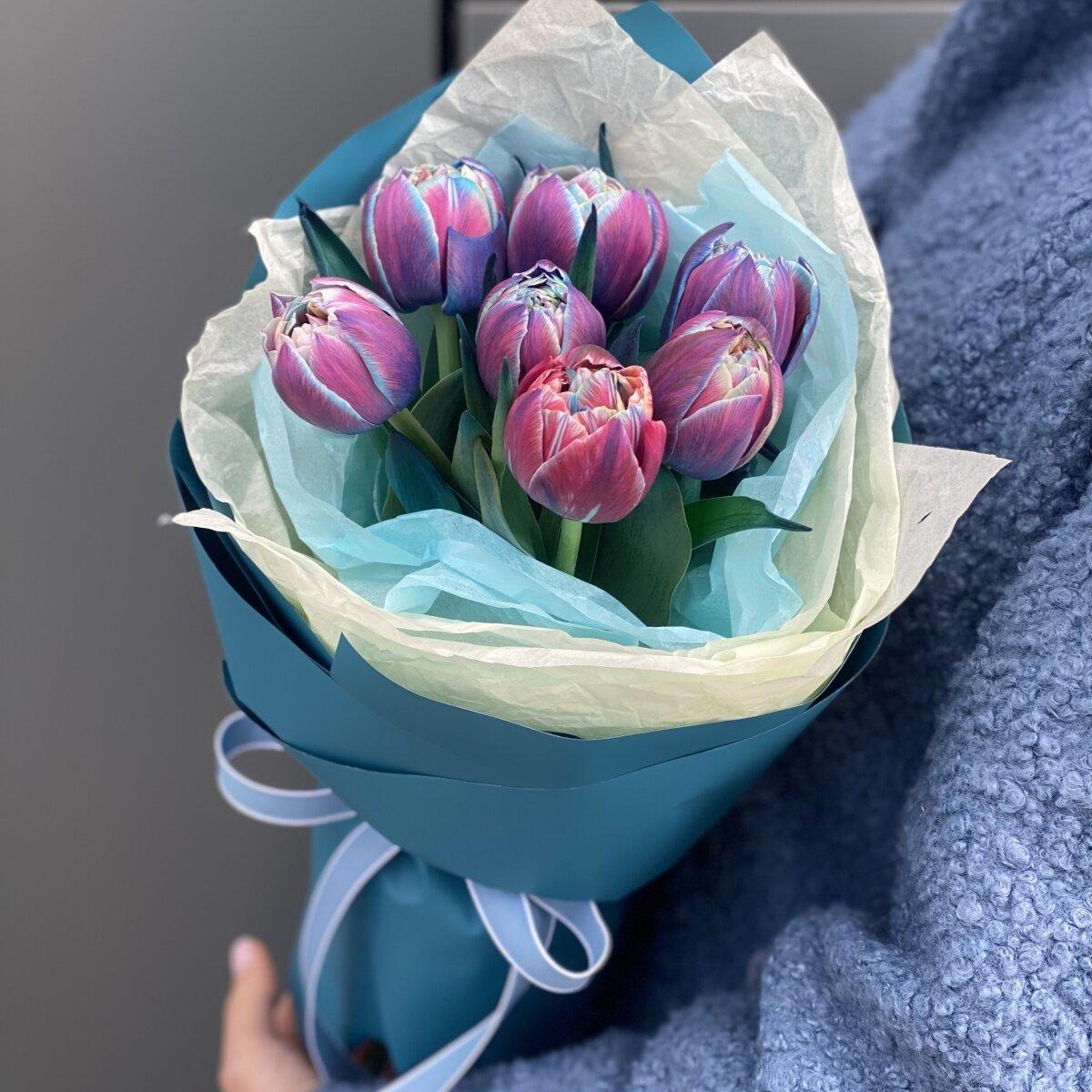 Букет из пионовидных тюльпанов Вип