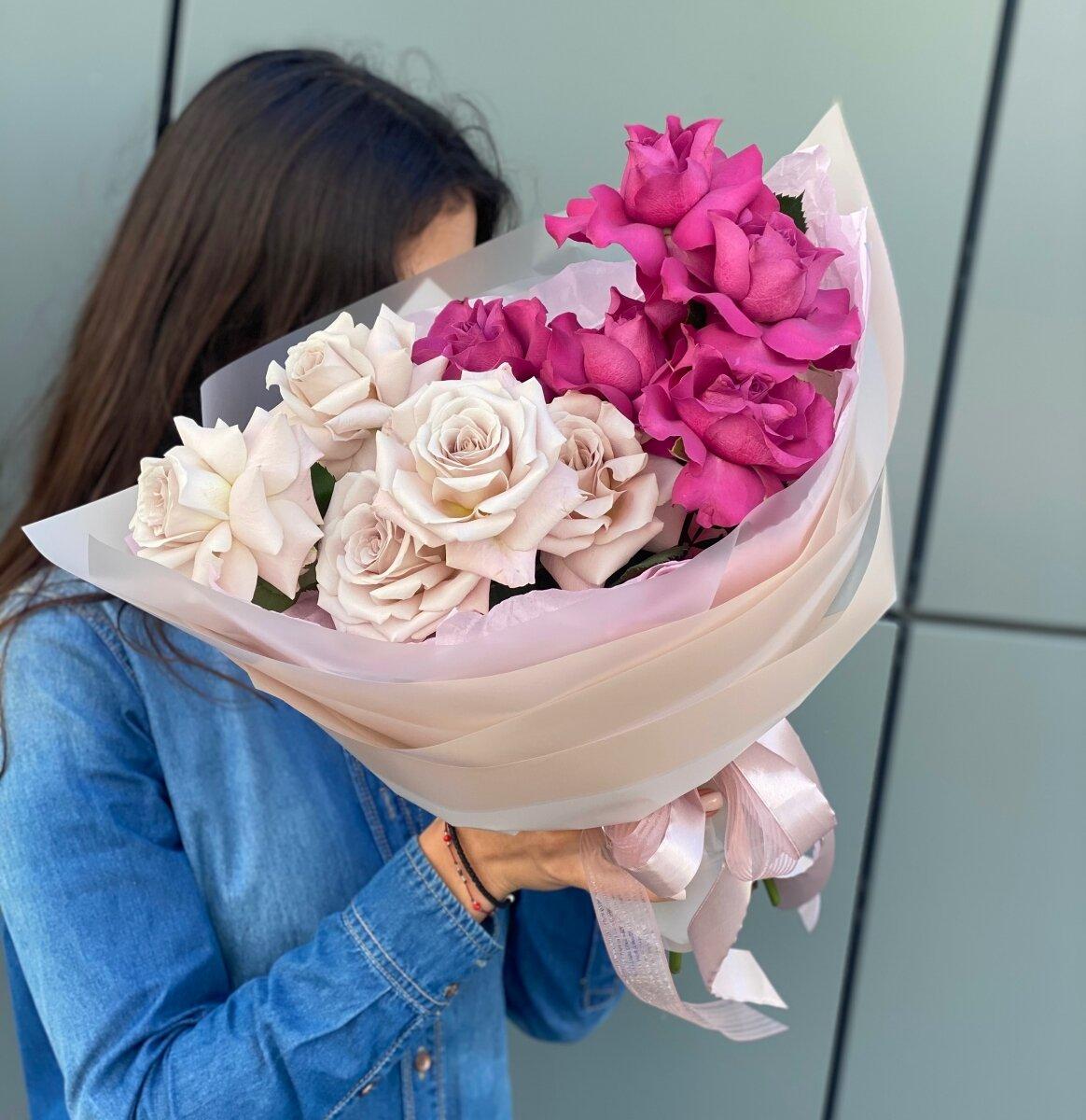Букет Силуэт из роз